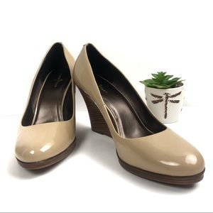 Cole Haan Nude Brown Wedges Size 11 B